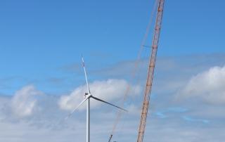 WindPlan GmbH Bürgerwindpark Stelle-Wittenwurth - Kran